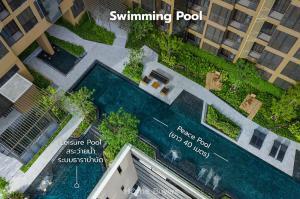 For SaleCondoSukhumvit, Asoke, Thonglor : 💥1 bedroom, pool view, with bathtub 💥OKA Haus Resort Condo near Thonglor size 34.91 sq.m., price 3.85 million baht, cheaper than pre-sale, contact 089-7146565