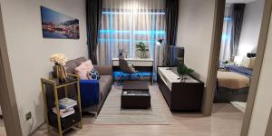 For RentCondoRama9, RCA, Petchaburi : 🔥2 bedrooms, 2 bathrooms, 22K🔥Life Asoke Rama9, 55 sqm., High floor, beautiful decoration, complete electrical appliances, ready to move in