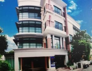 For RentOfficeLadprao 48, Chokchai 4, Ladprao 71 : For Rent Office for rent 4 floors on Nakniwat Road Baan Klang Krung project, Office Park area 500 square meters, parking for 8 cars, decorated as an office, can register a company