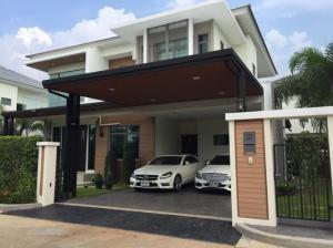 For SaleHouseRattanathibet, Sanambinna : HS334 2 storey detached house for sale, area 90 sq m, luxury project, Perfect Masterpiece, Century Rattanathibet, convenient transportation