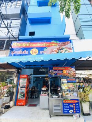 For RentHome OfficeRama3 (Riverside),Satupadit : Rent a noodle shop & rice, pork leg, Sathupradit, 6-storey commercial building, no liquidation fee, has customer base