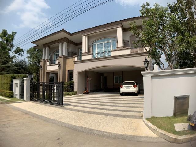 For SaleHouseNakhon Pathom, Phutthamonthon, Salaya : 2 storey detached house for sale, behind the corner of Phutthamonthon Pinklao, The Grand Pinklao, 4 bedrooms.