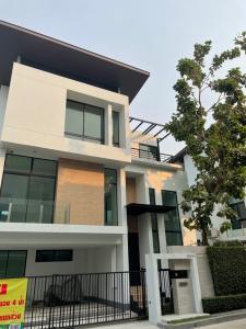 For SaleHouseLadkrabang, Suwannaphum Airport : Moden detached house near Suan Luang Rama IX for sale below market price.