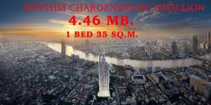 ขายคอนโดสาทร นราธิวาส : 🔥Sprcial Price !!🔥📌1 Bed Size 35 Sq.m. 4.46 MB. ตำแหน่งสวย วิวแม่น้ำเจ้าพระยา🔥