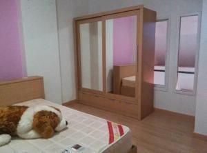 For RentCondoChengwatana, Muangthong : ห้องแบบ Duplex 2 ชั้น ให้เช่าคอนโด ฌ็องเซลิเซ่ ติวานนท์ พร้อมอยู่ 41 ตรม. ตึก A ชั้น 7 เพียง 5500 บาท