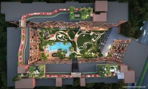 Sale DownCondoChengwatana, Muangthong : Oneder Kaset 24.25 sq m, 8th floor saw the garden, 1.85 baht.