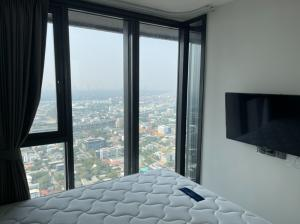 For RentCondoOnnut, Udomsuk : Duplex room, cheap, great value! 🔥🔥🔥 ** Special price 18,000 baht Condo for rent The Line Sukhumvit 101 / The Line Sukhumvit 101, size 43 sq.m., 37th floor, high floor + view of the Chao Phraya River, near BTS Punnawithi. 250 m