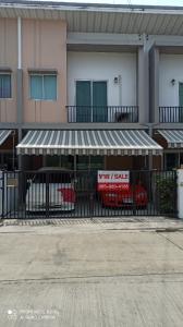 For SaleTownhouseBangbuathong, Sainoi : Townhouse for sale, Pleno, Rattanathibet-Chaiyapruek, 3 bedrooms, Bang Bua Thong, Nonthaburi.