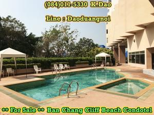For SaleCondoRayong : For Sale Ban Chang Ban Chang Cliff Beach Condotel 4th Floor Area 37.47 Sq.m.