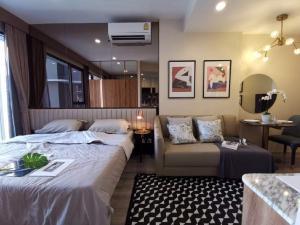 For RentCondoRama9, RCA, Petchaburi : Condo for rent‼ Ideo Mobi Asok (Ideo Mobi Asoke) near BTS Asoke / MRT Phetchaburi, 1 bedroom, area 26 sq.m., floor 12A, beautiful room, cheap price.