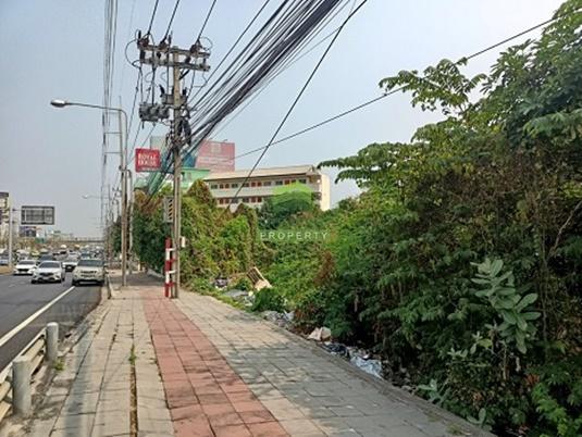 For SaleLandRama5, Ratchapruek, Bangkruai : Urgent sale, vacant land on Ratchaphruek Road, area 5-2-10 rai, very good location