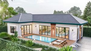 For SaleHouseCha-am Phetchaburi : Baan Pool Villa Hua Hin - Cha-am, hill view, 5 minutes away from the sea