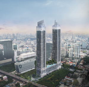 Sale DownCondoRama9, RCA, Petchaburi : 🏨🏩 Selling down payment, very good price !!! One 9 five condominium, luxury condo, good location in the middle of the city 🎇🎉