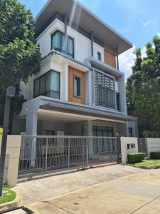For RentHouseYothinpattana,CDC : 3 storey house for rent, beautiful decoration, Narasiri Highway project Row along the Express Ra Intra Yothin Pattana 3