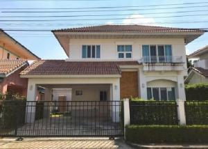For RentHouseBangbuathong, Sainoi : House for rent Perfect Place Ratchapruek Village, near MRT Bang Rak Noi Tha It Fully furnished, 3 air conditioners