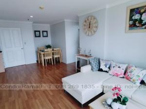 For RentCondoRama9, RCA, Petchaburi : RENT !! Condo Lumpini Place, MRT Rama 9, 2 Beds, Tower D, Floor 9, 71 sq.m., 20,000 Baht