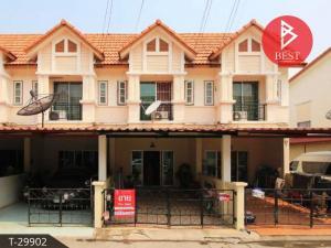 For SaleTownhousePattaya, Bangsaen, Chonburi : Townhouse for sale Rinrada Village 3, Phanthong Chonburi, ready to move in