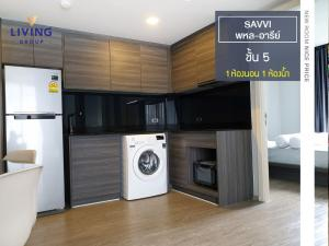 For RentCondoRatchathewi,Phayathai : Worth rent, SAVVI Phahon-Ari 700 m. To Ari BTS, good location, easy to travel, air-conditioned - fully furnished. Ready to move in, 1 bedroom, 5th floor, size 45.34 sqm., Connect many routes