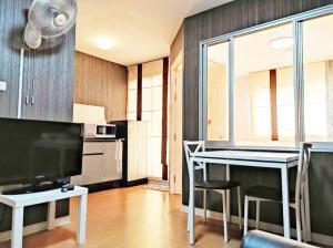 For RentCondoRattanathibet, Sanambinna : Urgent rent, Lumpini Condo Town Rattanathibet, next to MRT Nonthaburi 1, distance 400 m, size 28, building A1, 6th floor, complete electrical appliances.