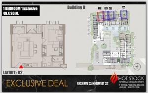 ขายคอนโดสุขุมวิท อโศก ทองหล่อ : ทุบแหลก ลดปิดตึก 1นอน Exclusive Layout 49 ตรม Type - Reserve 61 , ราคาดีเฟ่อ รีบตัดสินใจจองก่อนหมด!!!
