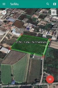 For SaleLandMahachai Samut Sakhon : Urgent sale of land plot purple, large plots are rare. Below market price 20,000,000 baht, Samut Sakhon Province
