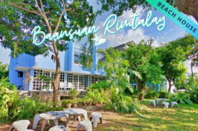 For SaleHousePattaya, Bangsaen, Chonburi : For Sale-Rent a single house on the corner. Baan Suan Rimtalay House For Sale / House For Rent Baansuan Rimtalay (Beach House)