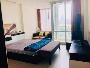 For RentCondoRama9, RCA, Petchaburi : Rent Tc Green rama9 T.C. Green Rama 9 Building A, 7th floor, pool view, size 30 sq m, studio room, price 8500