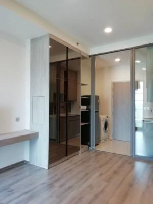 For RentCondoKasetsart, Ratchayothin : C1068 Condo for rent Miti Chewa Agricultural Intersection, next to Kasetsart University, close to BTS Agriculture Station 300 meters # There is a washing machine, 1 bedroom, room size 28 sq m, 17th floor.