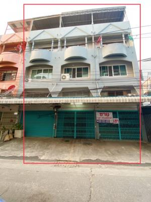 For SaleShophouseRama 2, Bang Khun Thian : Commercial building for sale, 3 booths, 3.5 floors, 92 sq m. usable area 1,200 sq m. Suitable for living, office, factory and warehouse.