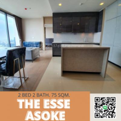 For SaleCondoSukhumvit, Asoke, Thonglor : The Ease Asoke, luxury condo in the heart of Asoke, near shopping centers, convenient transportation by expressway, near BTS Asoke, MRT Phetchaburi, Tel: 083-081-1769 Line: mmintl