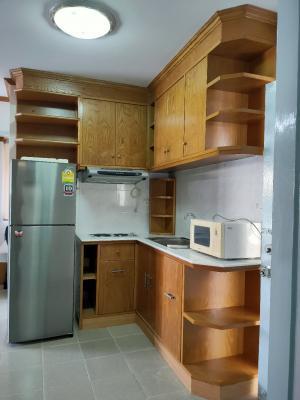 For RentCondoBangna, Lasalle, Bearing : ให้เช่าคอนโด เดอะพาร์คแลนด์ บางนา ห้องมุม 2 ห้องนอน ห้องสวย ตกแต่ง ทาสีใหม่ เฟอร์นิเจอร์ใหม่ พร้อมอยู่มากจร้า
