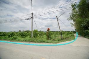 ขายที่ดินอยุธยา สุพรรณบุรี : ขาย ที่ดิน ต.สำพะเนียง บ้านแพรก อยุธยา แปลงมุมถนนสวยมาก