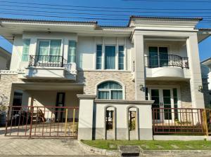For SaleHouseLadkrabang, Suwannaphum Airport : (Sell) ** European-style single house on the road along the Kanchana Ring Road and Sukhaphiban 2, Casa Grand, On Nut-Wongwaen **
