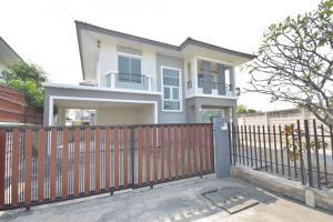 For SaleHouseMahachai Samut Sakhon : House for sale Mahachai Pruksa Village Scenery Mahachai-Rama 2, new rim, never lived
