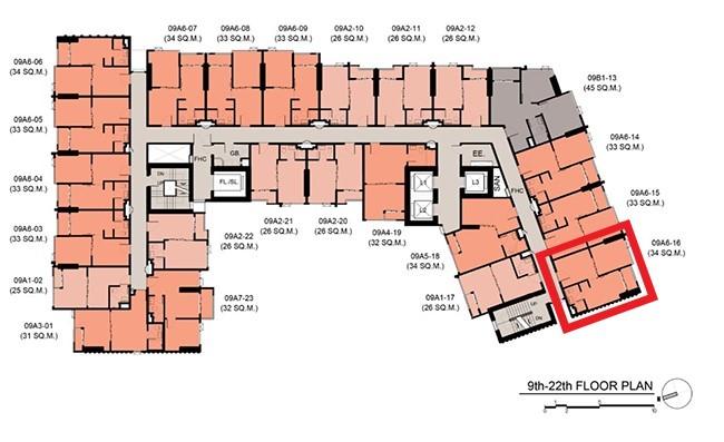 ขายดาวน์คอนโดรัชดา ห้วยขวาง : (เจ้าของ) ขายดาวน์ 1 bed 34.5 The Stage Mindscape ชั้น 12 ห้องมุมทิศใต้ ตำแหน่งฮอต เพียง 10x,xxx บาท/ตร.ม.