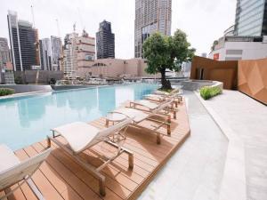 For RentCondoSukhumvit, Asoke, Thonglor : Rental : Marque Condo , Prompong BTS , 2 Bed 3 Bath , 127 sqm Floor