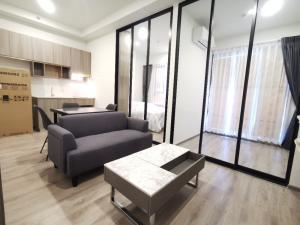 For RentCondoKasetsart, Ratchayothin : New condo for rent, Knightbridge Kaset-Society, 1 Bedroom Plus +, next to BTS Senanikom, near Ratchayothin intersection - Kasetsart University (Real room picture) ready