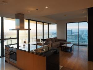 เช่าคอนโดพระราม 3 สาธุประดิษฐ์ : ให้เช่า The Pano พระราม3 2 ห้องนอน ชั้นสูง วิวแม่น้ำ พร้อมเฟอร์นิเจอร์