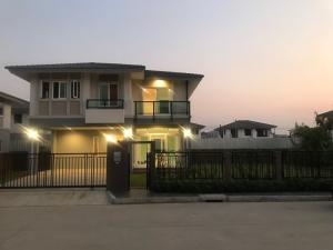 For SaleHouseNakhon Pathom, Phutthamonthon, Salaya : House for sale, Passorn Phutthamonthon Sai 2-Bangwaek Project, hand 1, has a garden next to a very large house. Sell by owner