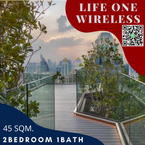 For SaleCondoWitthayu,Ploenchit  ,Langsuan : Investment condo of the year !!! Life One Wireless, the number one house on Wireless Road, best price.