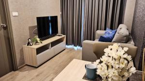 For SaleCondoBangna, Lasalle, Bearing : M3374-Condo for sale and rent, Ideo O2 Bangna, near BTS Bangna, beautiful room with washing machine. Fully furnished, ready to move in