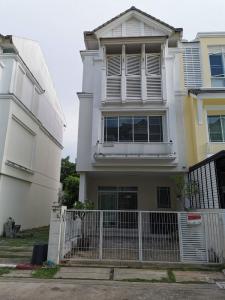 For SaleTownhouseRama5, Ratchapruek, Bangkruai : 3-storey townhome, airy, beautiful design, corner unit, 3 bedrooms, 4 bathrooms, ready to move in.