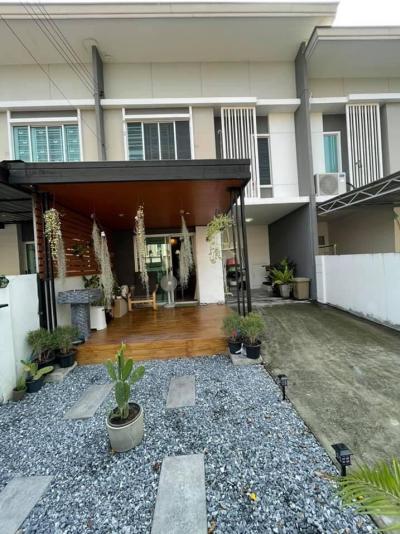 For SaleTownhouseNakhon Pathom, Phutthamonthon, Salaya : 2 storey townhouse for sale, Pruksa Ville 77 Phutthamonthon Sai 4 Road, Krathum Lom, Samphran, Nakhon Pathom