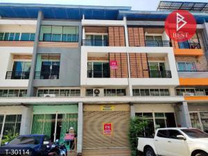 For SaleShophouseMahachai Samut Sakhon : Urgent sale, commercial building, The Money Village, with Economic Road - Phutthasakhon, Samut Sakhon