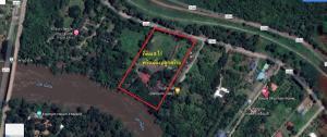 ขายที่ดินกาญจนบุรี : Land and building on the Kwainoi river in Kanchanaburi for sale