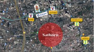 For SaleLandSathorn, Narathiwat : Land for sale corner plot in the heart of # Sathorn near BTS St. Louis.