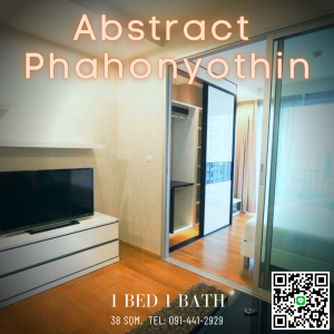 For SaleCondoLadprao, Central Ladprao : Abstracts Phaholyothin Park, Condo in the heart of Phahonyothin Close to shopping malls and skytrain, 1 bedroom, 1 bathroom