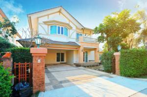 ขายบ้านพระราม 5 ราชพฤกษ์ บางกรวย : ขายบ้านเดี่ยว  2 ชั้นเนื้อที่ 106.3 ตร.ว. พร้อมเรือนรับรอง  แปลงมุม ถ.เมน  ติดสวน     ม. ลัดดารมย์ ชัยพฤกษ์ - แจ้งวัฒนะ