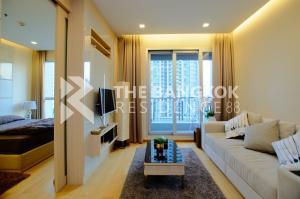 For SaleCondoRama9, RCA, Petchaburi : The Address Asoke, luxury condo near MRT Phetchaburi, selling only 5.9 million baht, 45 sq m, 1 bedroom, 1 bathroom.