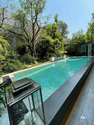 For SaleHouseRatchadapisek, Huaikwang, Suttisan : Selling : Luxury House with Private Pool & Private Lift In Rama 9 Ratchada , 4 Bed bed 5 bath 2 Living Room , 4 Parking lot, 737 sqm , 120 sqw